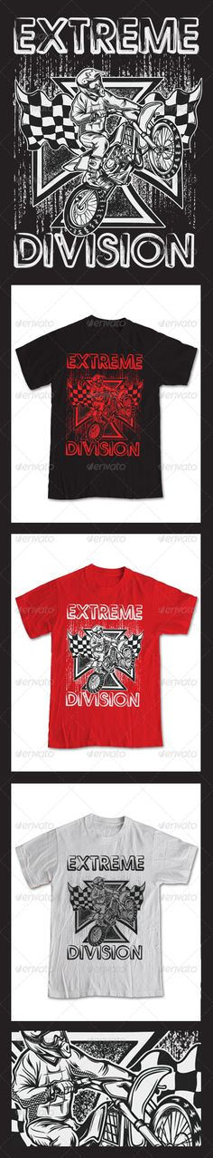#Extreme Motor Cross T-Shirt - #Sports & Teams #T-Shirts Download here: https://graphicriver.net/item/extreme-motor-cross-tshirt/6618497?ref=alena994