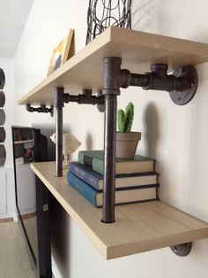 love these shelves, incorporate into kitchen table design?