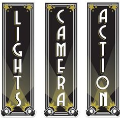 talent show decoration hollywood | Lights Camera Action Decorations