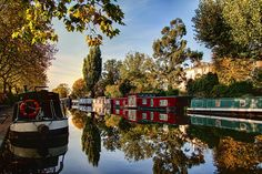 Regents Canal. One of the best walks, to know the beauty of the canals in London.