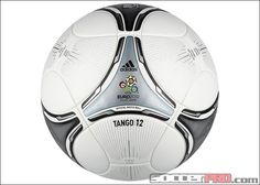 adidas Euro 2012 Finals Match Ball - White with Black and Metallic Silver...134.99