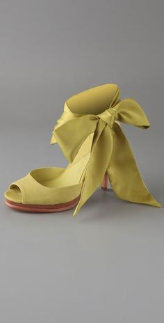 Diane von Furstenberg Eva Scarf Tie Platform Sandals