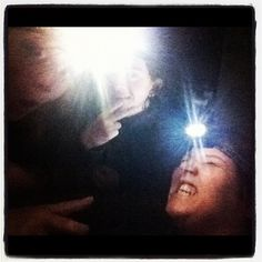 Power is out! Headlight picture 2.0! #hurricane #sandy #nopower #lofi #storm #maryland #eastcoast #frankenstorm