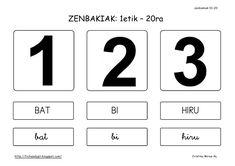 zenbakiak 01-20                                   ZENBAKIAK: 1etik – 20ra                            ...