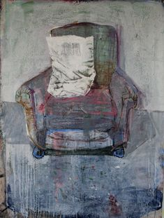 "Saatchi Online Artist: christos tsimaris; Mixed Media, Painting ""chair"""