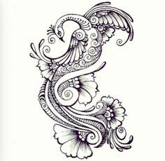 Henna designed tattoo