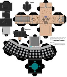 Deviantart user CyberDrone has created a ton of Doctor Who Cubeecraft art. Print out a TARDIS, some Daleks, and a few Cybermen to watch the refreshment table at your next Who viewing party. Don& print out Davros — he& pruny. Tardis, Paper Toys, Paper Crafts, 3d Paper, Doctor Who Craft, Diy Doctor, Doctor Who Wedding, Pumpkin Coloring Pages, Dalek