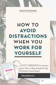Eliminate distractions and get more done when you're self-employed (while working LESS!) Click through and you'll also get access to a FREE 7 day course to take your productivity to the NEXT LEVEL, via Kitty & Buck #workfromhome #businesstips #entrepreneurtips #productivitytips Home Based Business Opportunities, Business Tips, Online Business, How To Stop Procrastinating, Go Getter, Mindset Quotes, Survival Tips, Coaches
