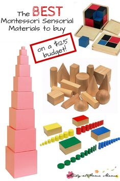 The BEST Montessori Sensorial Materials if you're on a tight budget! This Montessori teacher picks her top Montessori Sensorial materials for doing Montessori at home