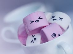 Cute marshmallows by lieveheersbeestje.deviantart.com on @deviantART