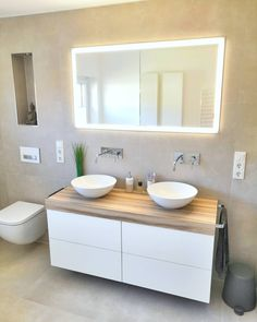 Washbasin: 60 decoration pictures and lavatory designs - Home Fashion Trend Lavatory Design, Muebles Living, Basin Design, Decorating With Pictures, Bathroom Toilets, Fashion Room, Bathroom Interior, Home Interior Design, House Design