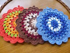 Crochet Hot Pads, Free Crochet, Knit Crochet, Crochet Potholders, Crochet Doilies, Pot Holders, Coasters, Crochet Patterns, Blanket