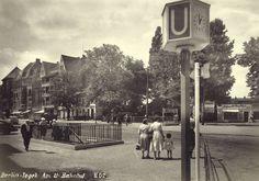 Berlin-Tegel 1959 am U-Bahnhof
