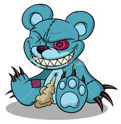 cool bear.. love the claws and evil grin >:D