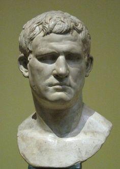 Marcus Vipsanius Agrippa BC), son-in-law, friend, confidant and most trusted general of Octavian/emperor Augustus. Ancient Rome, Ancient Art, Ancient History, Sculpture Head, Roman Sculpture, Battle Of Actium, Art Antique, Roman History, Roman Empire