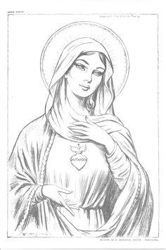 Christian Drawings, Christian Art, Catholic Art, Religious Art, Tattoo Crane, Mother Mary Tattoos, Virgin Mary Art, Jesus Drawings, Angel Drawing