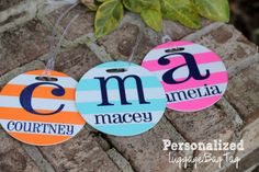 Personalized Round Luggage Tag   Luggage by CherryTreeLaneDesign, $13.99