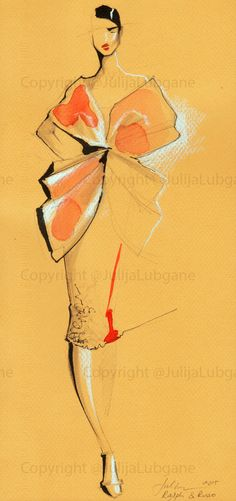Julija Lubgane watercolor and ink illustration Fashion Illustration Sketches, Illustration Mode, Fashion Sketchbook, Fashion Sketches, Dress Sketches, Design Illustrations, Moda Fashion, Fashion Art, Girl Fashion