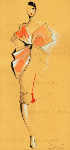 Watercolor and Ink Fashion Illustrations by Julija Lubgane at Coroflot.com