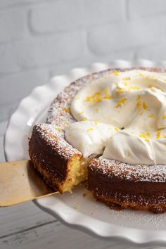 Lemon Torta Caprese from Giada De Laurentiis - Giadzy Giada De Laurentiis, Lemon Torte, Cake Recipes, Dessert Recipes, Dessert Bread, Bread Recipes, Giada Recipes, Flourless Cake, Vegetarian Chocolate
