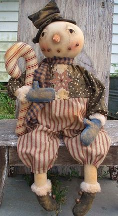 EPATTERN  Primitive HUGE doll pattern Round by SweetMeadowsFarm