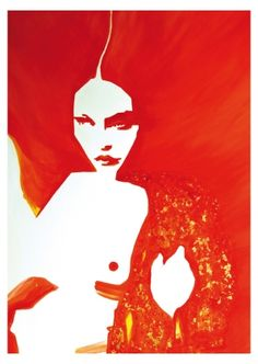 Today's petiteposte goes RED:  Postcard by Naja Conrad-Hansen  www.petiteposte.com