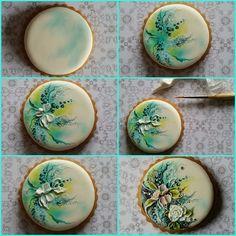 How to Fancy Cookies, Iced Cookies, Cute Cookies, Cupcake Cookies, Birthday Cookies, Sugar Cookies, Cookie Icing, Royal Icing Cookies, Paint Cookies