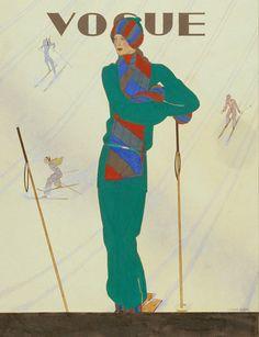 Vintage Vogue Covers, Dec 1928 #VintageVogueCoversKisyovaLazarinova