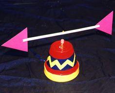 Windwijzer knutselen met kleuters