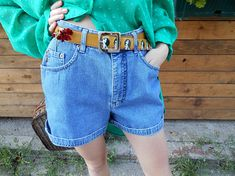 Your place to buy and sell all things handmade Vintage High Waisted Shorts, Waisted Denim, Hipster Jeans, Casual Summer Dresses, Maternity Dresses, Workout Pants, High Waist Jeans, Jean Shorts, Boho