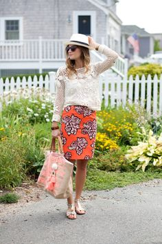 Love this preppy-meets-boho look from the blogger at City Tonic