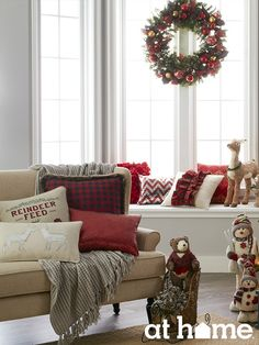 Turn your space into a cozy, cabin in the woods by playing with patterns and neutral textiles.