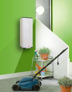 Выбираем накопительный водонагреватель: советы по выбору объема и сравнение наиболее экономичных моделей http://happymodern.ru/vodonagrevatel-nakopitelnyj/ Водонагреватель прямоугольной формы можно спрятать за ширмой в подсобном помещении