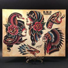 Image of FLASH SET 5 sheets full of bold designs -- cm / Cat Tatto, Arm Tattoo, Body Art Tattoos, Sleeve Tattoos, Hand Tattoos, Traditional Tattoo Old School, Traditional Tattoo Design, Old School Tattoo Sleeve, Desenhos Old School