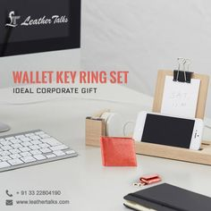 Give the perfect gift to someone you care about. Leather Talks presents before you an exclusive range of corporate gift items to gift your co-employees. #lowcost #highutility  http://leathertalks.com/product/wallet-key-ring-set/