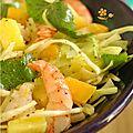 Crevette & mangue ? en salade et en poêlée ! Prawn, Entrees, Potato Salad, Salads, Potatoes, Chicken, Meat, Healthy, Ethnic Recipes