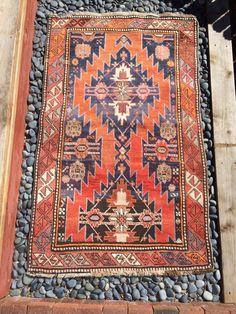 $600 Antique Caucasian Karabagh Karabakh lampa tribal prayer rug Armenian kazak shirvan Azerbaijan Persian Mazlahan Mazlaghan boho chic