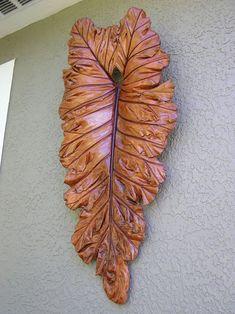 Mystic Firefly Creations Wins 2012 Direct Colors End of Summer Photo Contest - Direct Colors Concrete Leaves, Concrete Forms, Concrete Color, Concrete Art, Concrete Planters, Cement Art, Painting Concrete, Concrete Crafts, Concrete Projects