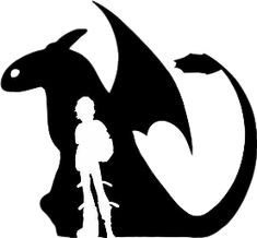 how to train your dragon 2 birthday party. Toothless with Hiccup silhouette. Dragon Birthday, Dragon Party, Dragon 2, Silhouette Dragon, Silhouette Vector, Silhouette Cameo, Logo Infantil, Machine Silhouette Portrait, Hiccup And Toothless