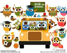 Profession owl clip art part 1 for Personal and by Giftseasonstore
