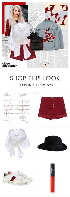 """For the sin of swallowing up all the stars in the sky..."" by e-laysian ❤ liked on Polyvore featuring Oris, Chronicle Books, Gucci, Armani Collezioni, Alexander McQueen, Pieces, Chandelier and NARS Cosmetics"