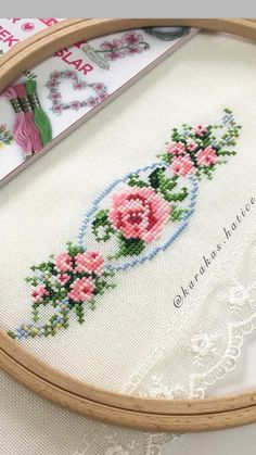 Cross Stitch Cards, Beaded Cross Stitch, Cross Stitch Borders, Cross Stitch Rose, Cross Stitch Flowers, Cross Stitch Designs, Cross Stitching, Cross Stitch Patterns, Crewel Embroidery