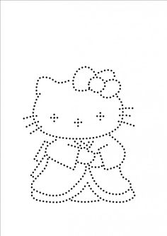 Hello Kitty Dot Patterns, Pvc Pipe Projects, Crystal Design, Hello Kitty, Dots, Crafting, Embroidery, Crystals, Diamond