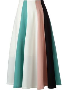 Le Ciel Bleu block stripe A-line skirt in RESTIR from the world's best independent boutiques at . Over 1000 designers from 300 boutiques in one website. Skirt Outfits, Dress Skirt, Pleated Skirt, Culottes Skirt, Cute Skirts, A Line Skirts, African Attire, Stripe Skirt, High Waisted Skirt