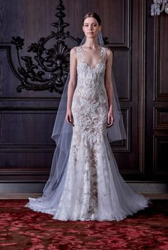 """Check Out Monique Lhuillier's """"Alice In Wonderland""""-Inspired Bridal Collection"""