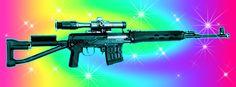 #artwork #art #guns #rainbow #fabulous #photoshop #illustration #kenovi