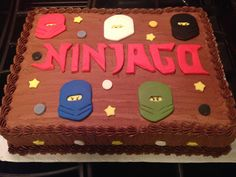 Made this chocolate on chocolate #ninjago cake for a young brother's birthday celebration last week. #birthdayboy #ninjago #cateredcakes #chocolate #ultimatedessertexperience