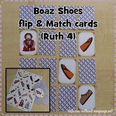 Boaz Shoes flip & Match cards (Ruth 4) #Jesuswithoutlanguage
