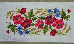 Cross Stitch Rose, Cross Stitch Embroidery, Hand Embroidery, Cross Stitch Designs, Crochet Lace, Needlepoint, Poppies, Needlework, Floral Design