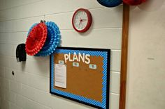 "Buy extra bulletin board to post week's lesson plans to cut down on ""What are we doing today?"" And maybe a second for drama announcements"